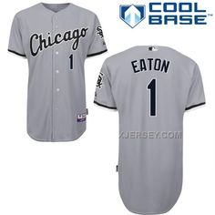 http://www.xjersey.com/white-sox-1-eaton-grey-cool-base-jerseys.html WHITE SOX 1 EATON GREY COOL BASE JERSEYS Only $43.00 , Free Shipping!