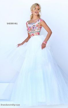 Sherri Hill 50319 Colorful Floral Bodice Gown