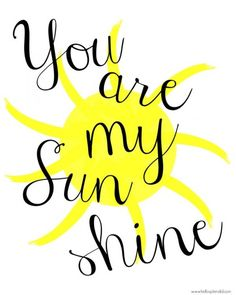You are my sunshine free printable for gallery wall nursery