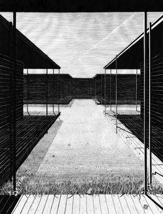 kreuzgang haus zeichnung architektur architecture drawing