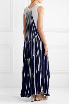 Chloé - Pleated Stretch-knit Maxi Dress - Navy -