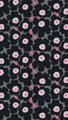 マリメッコ/ウニッコ for ジェットブラックiPhone壁紙 iPhone 5/5S 6/6S PLUS SE Wallpaper Background