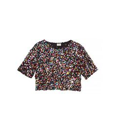 e23ab302ec85d H M Short Sequined Top ( 40) Crop Top And Shorts
