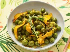 Get Roasted Olives with Orange and Rosemary Recipe from Food Network