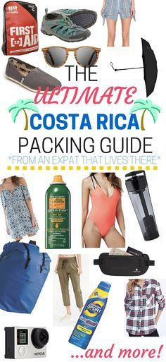 Everything you need to pack for an amazing trip in Costa Rica.