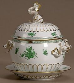 Antique Herend Tureen  Hungary, A Herend porcelain Chinese Bouquet pattern covered tureen - Bing Images