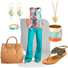 Turquoise linen..., created by rkimball on Polyvore
