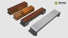 Amplia vista previa del modelo 3D de Several benches