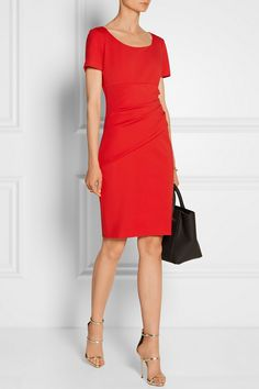 Little red dress Bold Fashion, Office Fashion, Luxury Fashion, Short Dresses, Dresses For Work, Office Outfits, Work Outfits, Office Wear, Little Red Dress