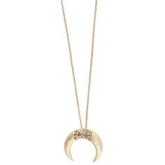 7934f38579d1d Feidt horn moon necklace   Gold horn moon necklace. Collier En LaitonCollier  LuneColliers ...