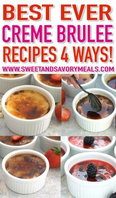 Perfect Creme Brûlée (Video) - Sweet and Savory Meals Creme Brulee is a perfect dessert of rich custard and topped with caramelized sugar. It is festive and delicious to make for a special occasion, such as Valentine's Day. Slow Cooker Desserts, Tolle Desserts, Köstliche Desserts, Dessert Recipes, Unique Desserts, Chocolate Creme Brulee, Hot Chocolate Fudge, Winter Desserts, Dessert Simple