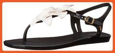 Melissa Women's Solar Garden II Jelly Sandal, Black White, 8 B US - Sandals for women (*Amazon Partner-Link)