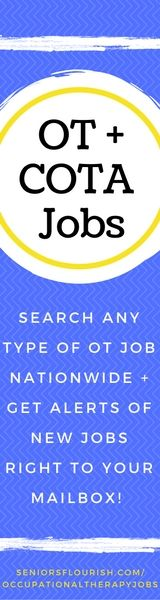 Are you an #OT or #COTA looking for a job? Search hundreds of jobs nationwide in any OT setting, PLUS get alerts of the new jobs you are searching for right to your email inbox! #OTjobs #occupationaltherapy #occupationaltherapyassistant