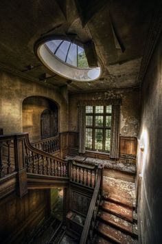 A manor house in England.  It's so hard for me to comprehend how these places are abandoned and left to crumble.