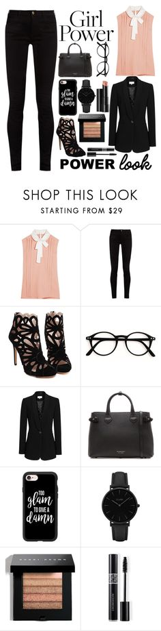 """""""What's your power look?"""" by a-hidden-secret ❤ liked on Polyvore featuring Miu Miu, Gucci, Reiss, Burberry, Casetify, CLUSE, Arbonne, Bobbi Brown Cosmetics, Christian Dior and power"""