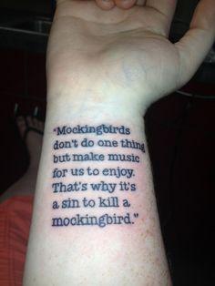 to kill a mockingbird tattoo - Google Search