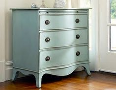 I'd love to find a little dresser with the curved front to fix up - Maybe Alea's room?