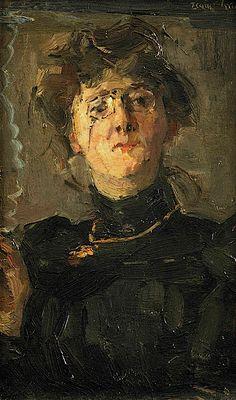Isaac Israels (1865-1934) Portrait of the artist Thérèse van Duyll-Schwartze