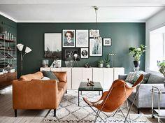 COZY & GREEN RETRO HOME IN SWEDEN // That Scandinavian Feeling blog