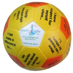 Personal Strengths Ball... This would be a good ice breaker activity for middle or high school groups.