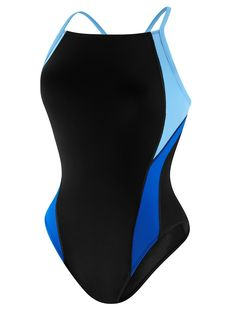 Speedo Launch Splice Cross Back (Youth) - Blue | Anglo Dutch Pools and Toys