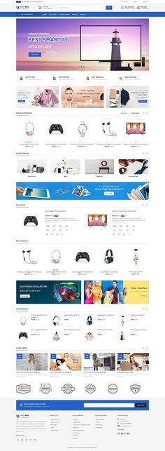 TechMart - The Shopping Mall OpenCart Template it is a simple and clean layout with elegant design, it's easy to install and use. Ecommerce Website Design, Website Design Layout, Computer Theme, News Web Design, Photoshop, Website Themes, Tool Design, Design Ideas, Shopping Mall