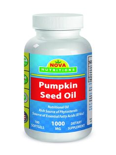Nova Nutritions Pumpkin Seed Oil 1000 mg 180 Softgels >>> Read more reviews of the product by visiting the link on the image.