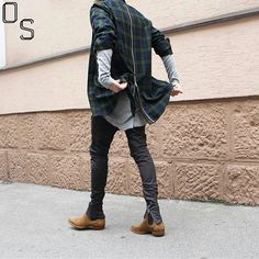 #OutfitSociety via @gentwithstyles Presents @___rrxii bad man RiRi (zipper) in the house: Fear of God Outfit and Saint Laurent Chelsea Boots