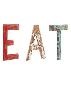 Another great find on #zulily! 'Eat' Wood Wall Décor #zulilyfinds