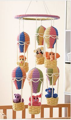 crochet balloon mobile