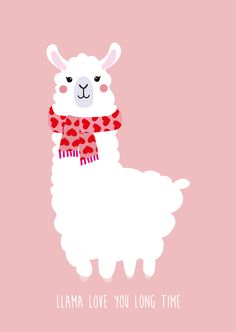 POSTKAART LLAMA LOVES YOU LONG TIME Alpacas, Llama Face, Llama Llama, Llama Drawing, Cuadros Diy, Cute Llama, Funny Llama, Baby Posters, Dark Fantasy