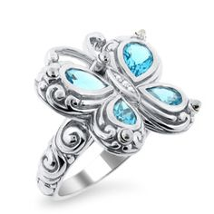 Butterfly Ring - LOVE