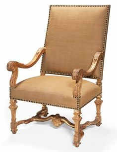 FAUTEUIL DEPOQUE LOUIS XIV DEBUT DU XVIIIEME SIECLE