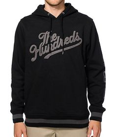 Grab some heavy duty street style with a thick fleece lined construction plus two hidden side hand pockets and The Hundreds script embroidered on the chest.