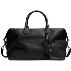 Pre-owned Coach Explorer In Pebble Leather Black Travel Bag ($430) ❤ liked on Polyvore featuring bags, luggage and black
