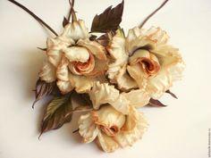 """Купить Цветы из шелка. Букет интерьерный. Розы """"Jade"""" - бежевый, букет, шелковые цветы"""