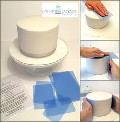 Flexi Cake Smoother set 6 piece  For sharp by LouiseJCakeDesign