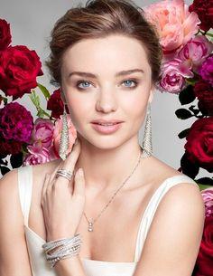 Miranda Kerr blooms like an English rose for Swarovski