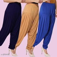 Ethnic Bottomwear - Patiala Pants Fabulous Viscose Women's Patiala Pants Combo Fabric: Viscose Waist Size : XL - Up To 24 in To Up To 32 in XXL - Up To 26 in To Up To 34 in Length: Up To 40 in Type: Stitched Description: It Has 3 Pieces Of Women's Patiala Pants Pattern: Solid Country of Origin: India Sizes Available: XL, XXL   Catalog Rating: ★4.1 (838)  Catalog Name: Kamal Fabulous Viscose Women's Patiala Pants Combo Vol 1 CatalogID_373404 C74-SC1018 Code: 974-2754196-4221