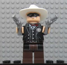 The Sheriff from The Lone Ranger Lego Film, Lego Tv, Lego Lone Ranger, The Lone Ranger, Lego Movie Characters, Lego Guns, Lego Club, Lego People, Lego Minifigs