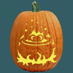 """One of 700+ FREE stencils for pumpkin carving and more! www.pumpkinlady.com """"Some Like it Hot"""" #FreePumpkinCarvingPattern"""