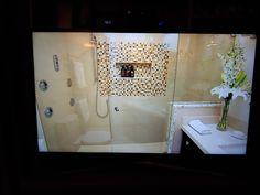 Bathroom Lighting, Bathroom Ideas, Bathtub, Mirror, Home Decor, Bathroom Light Fittings, Standing Bath, Bathroom Vanity Lighting, Bath Tub
