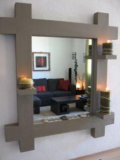 Miroir en carton terminé, le choix de la déco - meubles en carton marie krtonne