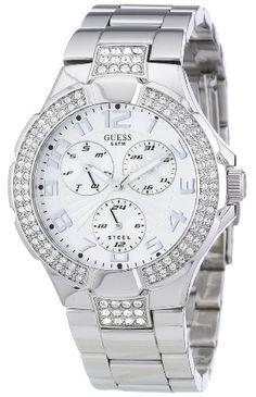 $_$◄.► Guess – W0325L2 – Intrepid 2 – Montre Femme – Quartz Analogique – Cadran Blanc – Bracelet Plastique Blanc