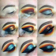 "EYESHADOW: @limecrimemakeup venus 2 ""jam"" • @inglotireland @inglot_cosmetics pigment - shadows 17, 340, & 60, 51 body sparkles @narsisst coeur battant @maccosmetics deep damson, plummage, LINER: @maccosmetics fluid line indelibly blue @sephora smokey gree"