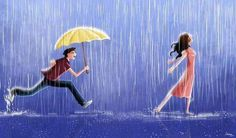 Trendy Ideas dancing in the rain illustration pictures Rain Dance, Dancing In The Rain, Girl Dancing, Dancing Couple, Girl In Rain, Couple Illustration, Illustration Art, Illustration Pictures, Rain Painting