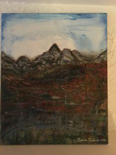 Maleri malt på Sogn i Oslo , i 2014 . Malerkveld med hele studentblokka der min datter og barnebarn bodde .