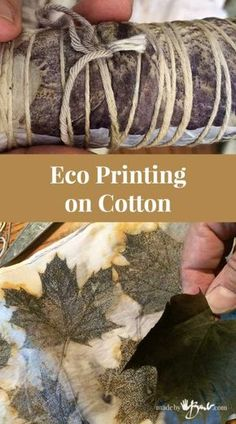 Eco Printing Cotton - madebybarb - simple method botanical printing