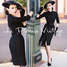 Le Palais Vintage Classical Black Wool Irregular Slim Coat - Designed by Winny #LePalaisVintage #Irregular