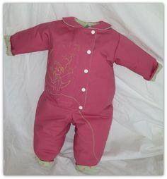 grenouillère col claudine : Mode Bébé par daniellemargotcouture